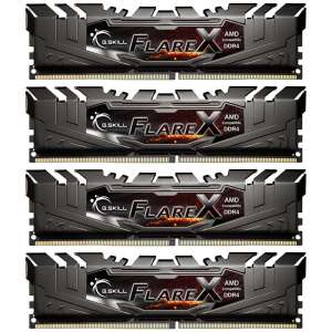 G.Skill Flare X Series czarny, DDR4-2400 dla Ryzen, CL 15 - 64 GB Quad-Kit