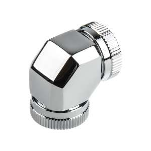 PHANTEKS  Glacier Hard-Tube Adapter 2x 12mm 90 Grad - chrome