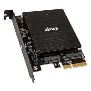 Akasa  M.2 PCI-E SATA RGB LED Adapter