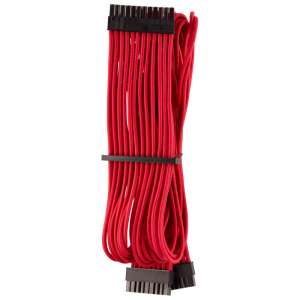 Corsair  Premium Sleeved 24-Pin-ATX-Kabel (Gen 4) - czerwony