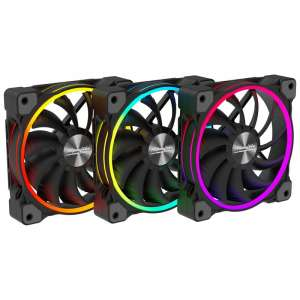 Alpenföhn  140mm Wing Boost 3 ARGB PWM Triple FAN - Black