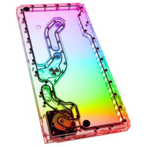 EK Water Blocks EK-Classic DP Front PC-O11D D-RGB + SPC PWM Distro Plate