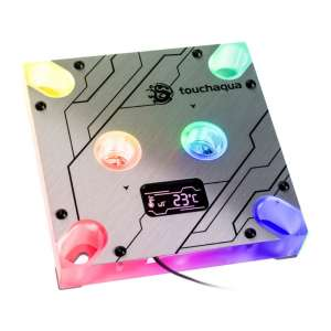BitsPower Touchaqua Summit MS OLED Intel CPU cooler - Digital RGB miedziany
