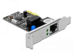 Delock Karta PCI express LAN 1GB + LOW PRO