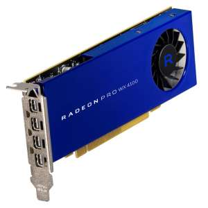 AMD Radeon Pro WX 4100 4096 MB GDDR5 4x mini DP - Low Profile