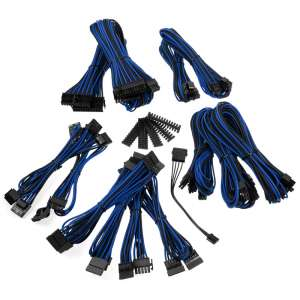 BitFenix  Alchemy 2.0 PSU Cable Kit BQT-Series SP11 - czarno/niebieski
