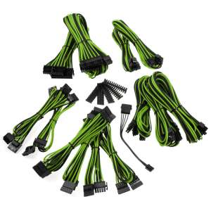BitFenix  Alchemy 2.0 PSU Cable Kit BQT-Series SP11 - czarno/zielone