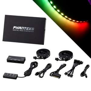 PHANTEKS  Digital-RGB Starter Kit inkl Kontroler i 2x pasek LED